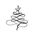 stylized logo scribbled christmas tree vector image vector image