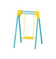 swing kids playground element vector image