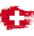 swiss scratched flag vector image vector image