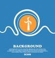 Windmill icon sign Blue and white abstract vector image vector image