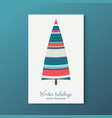 winter holidays colorful fir tree with stars vector image vector image