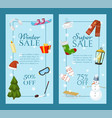 winter super sale set of banners vector image vector image