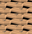 Wooden coffins seamless pattern background vector image vector image