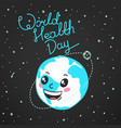 world health day celebration card vector image vector image