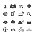 communication and network icon vector image