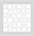 36 white pieces background puzzle jigsaw puzzle vector image vector image