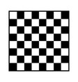 8x8 checker chess board or chessboard vector image vector image