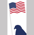 American Flag and eagle shape vector image vector image