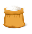 bag of flour icon realistic style vector image
