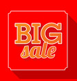 big sale red poster with price tag vector image vector image