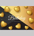birthday elegant greeting card with gold balloons vector image vector image