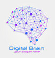brain concept with medical vector image vector image