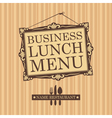business lunch vector image