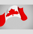 canada flag on transparent background vector image vector image