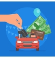Car sale Customer buying auto vector image