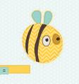 cartoon bee greeting card vector image