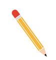 cartoon pencil write utensil wooden vector image