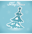 christmas sticker with tree vector image vector image