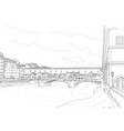 cketch old bridge vector image vector image