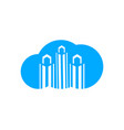 cloud city logo template vector image