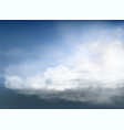 clouds and smoke on blue sky vector image vector image