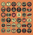 coffee lovers badges vector image