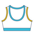 color blue and yellow sections silhouette shirt vector image