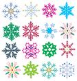 color snowflake vector image vector image