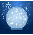 cute cartoon snow globe vector image vector image