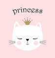 cute princess cat vector image vector image