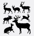 deer wild animal silhouette vector image