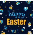 Easter design background Easter eggs vector image
