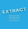 extract alphabet template set letters vector image vector image