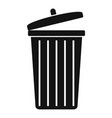 garbage bin icon simple style vector image vector image