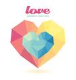 geometric heart Modern Design graphic vector image
