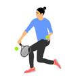 girl play tennis sport woman activity vector image
