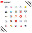 group 25 modern flat colors set for moon light vector image vector image