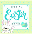hand sketched special easter offer text vector image