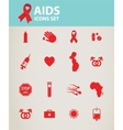 healthcare and medicine concept AIDS and HIV vector image vector image