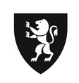 heraldic lion on shield coat of arms modern flat vector image