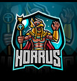 horus esport mascot logo design vector image