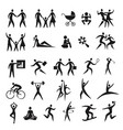 icons people family business sport vector image vector image