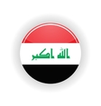 Iraq icon circle vector image