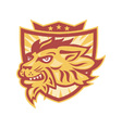 Lion Mascot Head Shield vector image vector image