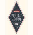 logo bbq grill house vector image