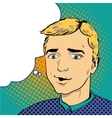 Man in comics retro pop art style vector image