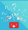 medical doctor or nurse kit laboratory equipment vector image