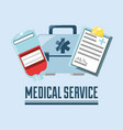 medical service design vector image vector image