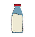 milk bottle icon image vector image vector image