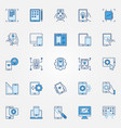 mobile app development blue creative icons set vector image vector image
